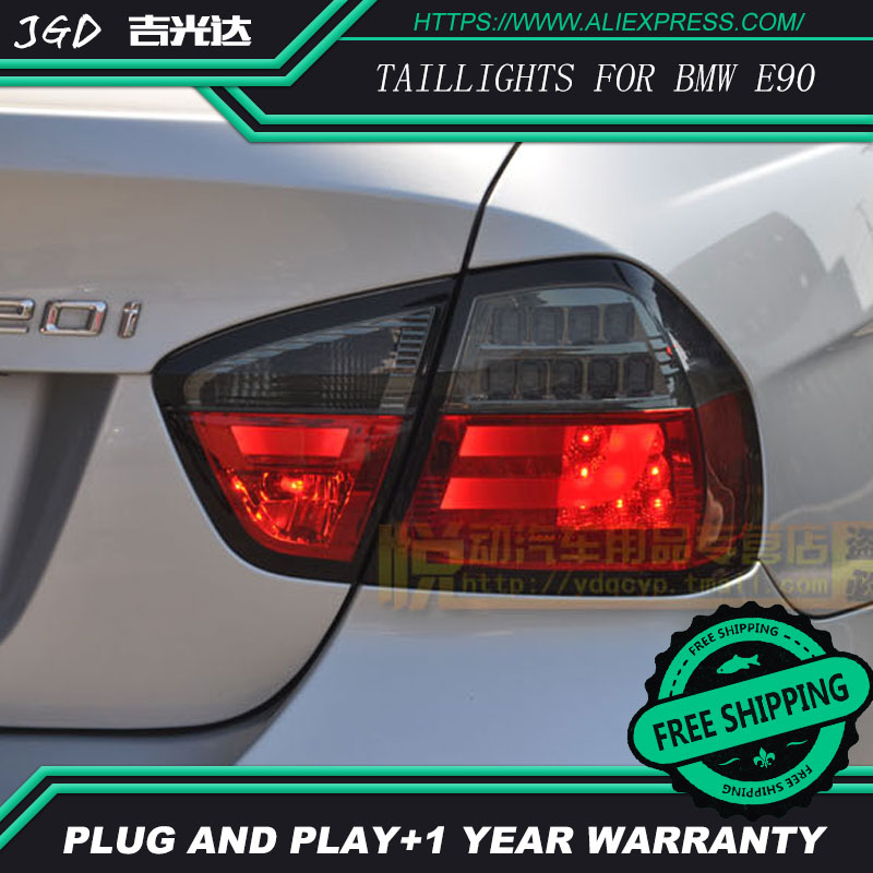 Car Styling tail lights for BMW E90 taillights LED Tail Lamp rear trunk lamp cover drl+signal+brake+reverse car rear trunk security shield cargo cover for volkswagen vw tiguan 2016 2017 2018 high qualit black beige auto accessories