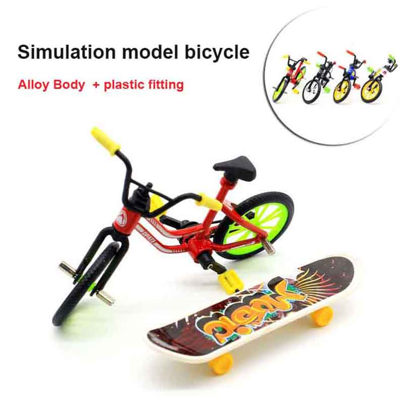Mini Bicycle Model Flick Finger Bikes BMX Toys For Children Boys Fun Christmas Birthday Gift Bicycle Collector's Pack