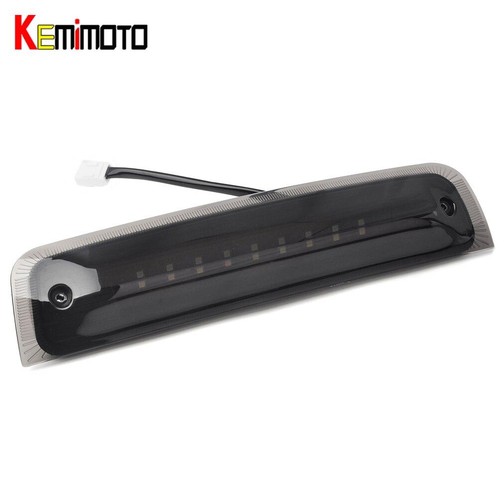 KEMiMOTO For Dodge Ram 1500 2010-16 Ram 2500 3500 Black LED 3rd Brake Cargo Light 2009 2010 2011 2012 2013 2014
