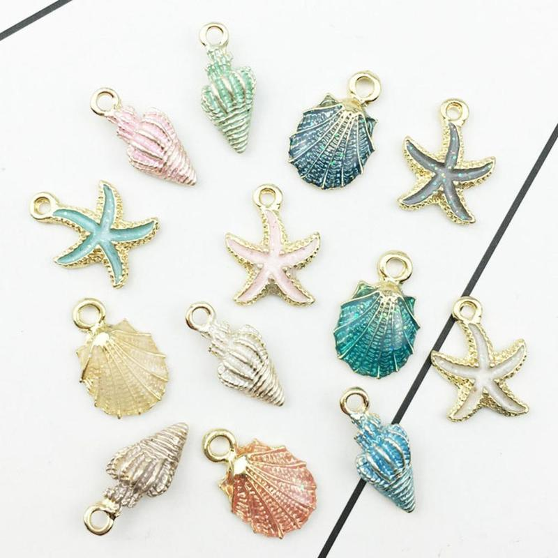 13pcs/set 1.8cm Mini Metal Colorful Shell For Jewelry Making Supplies Bracelet Necklace Earrings Findings&Components Material13pcs/set 1.8cm Mini Metal Colorful Shell For Jewelry Making Supplies Bracelet Necklace Earrings Findings&Components Material