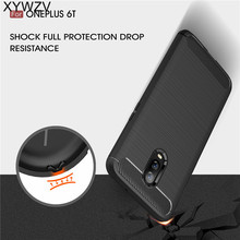 XYWZV Cover For Oneplus 6T Case Armor Shockproof Silicone Brushed Style Phone Shell Fundas