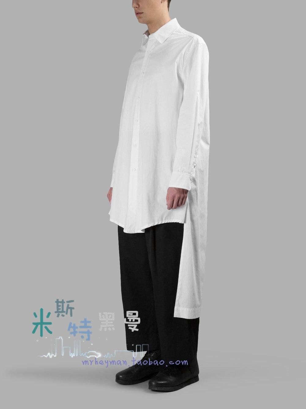 Col Costunes La Gd Noir S Faux Deux Couture Longue Plus De Taille Chanteur Nouveaux blanc Rétro Chemise Double Hommes 5xl Vêtements ~ Personnalité 2018 Sq1wS