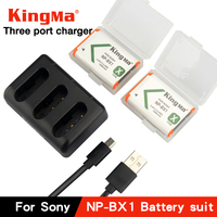 NP BX1 Bateria NP BX1 Battery+ 3 Slots Charger for Sony DSC RX1 RX100 AS100V M6 M5 M3 M2 HX300 HX400 HX50 HX60 GWP88 AS15 WX350