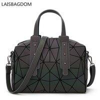 2017 Fashion Japan Style Laser Baobao Bag Luminous Geometric Bag Women Geometry Noctilucent Bag Top Handle Handbag