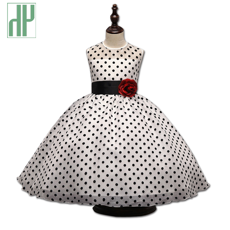 Girls dresses summer princess baby dress with polka dots evening party kids clothes Children Dancing Little Girl Tutu Dresses 2016 new brand girl dress summer black polka dots children s girls dress wedding party baby clothes for teen girl 4 to 10 years