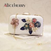 New 2019 Luxury Handbags Women Bags Designer Fashion Ladies Evening Flower Clutch Bags Chain Women Shoulder Crossbody Bridal Bag