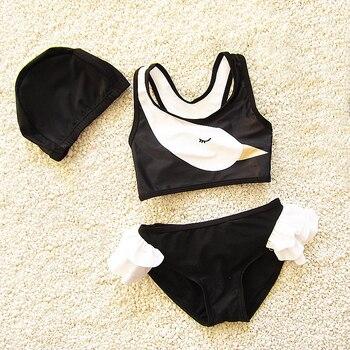 513ac2a5ebb5 Dollplus 2019 niñas traje de baño verano bebé niña traje de baño 3 piezas  conjuntos nuevo estilo playa trajes de baño Niño dibujos animados imprimir  ...