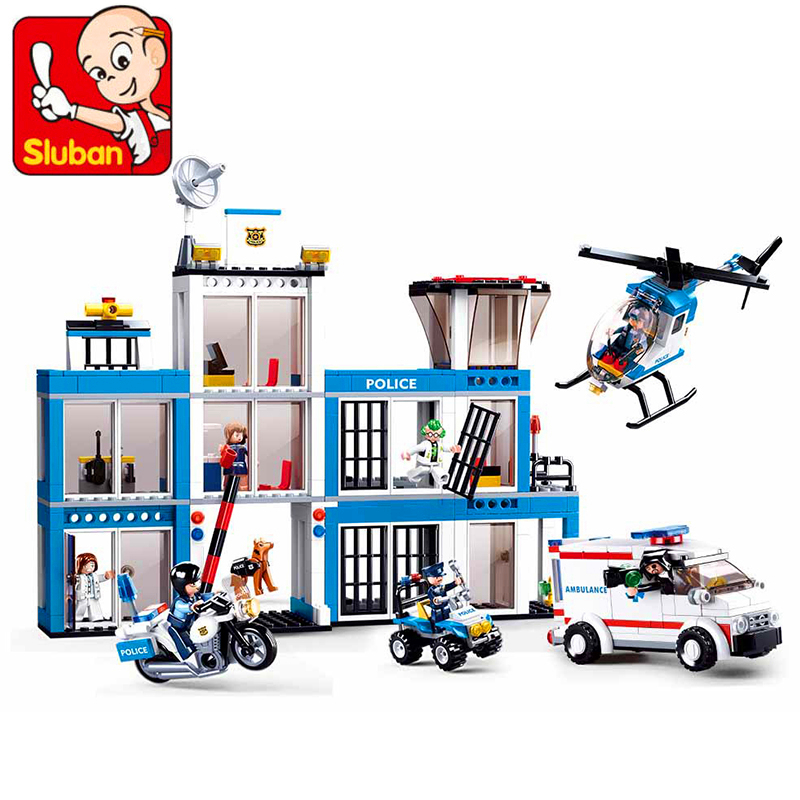 Genuine SLUBAN 0660 606Pcs City SWAT Police Station Headquarters Motorcycle Building Block Toys For ChildreGenuine SLUBAN 0660 606Pcs City SWAT Police Station Headquarters Motorcycle Building Block Toys For Childre