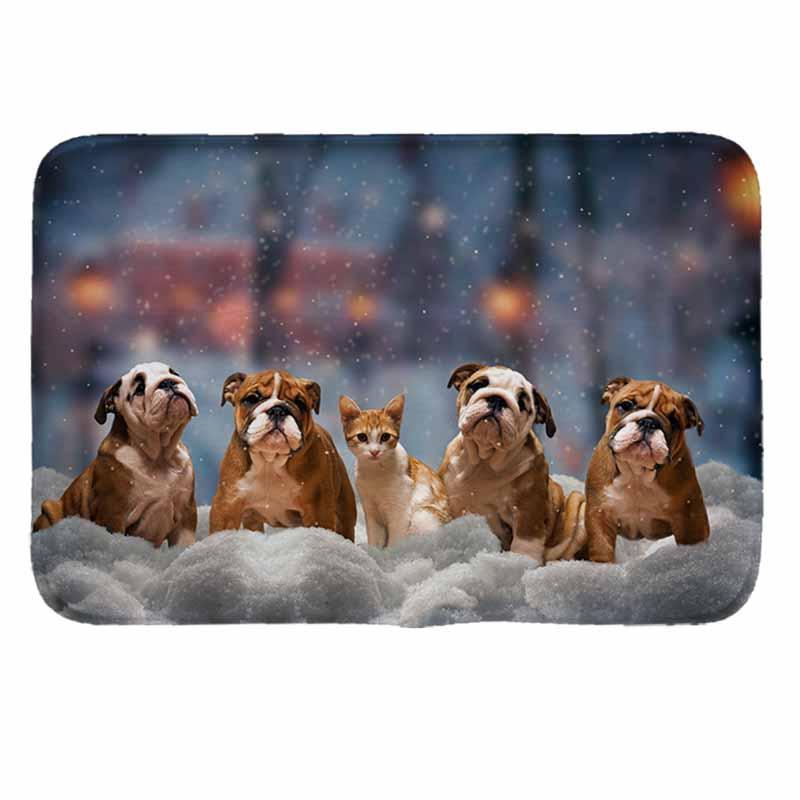 śliczne psy wzór Drukuj Wycieraczka antypoślizgowa mata podłogowa - Tekstylia do domu - Zdjęcie 1