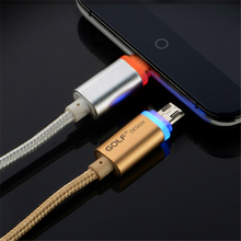 Smart LED Light Braided Micro USB Charger