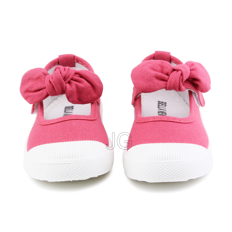 Baby Girl Shoes Canvas Casual Kids Shoes With Bowtie Bow-knot Solid Candy Color Girls Sneakers Children Soft Shoes 21-30 6