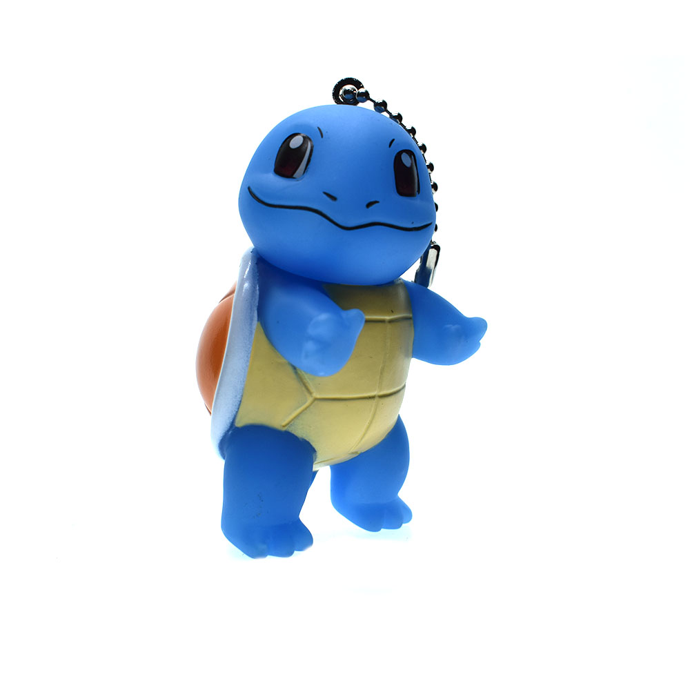 3D Anime Pokemon Go Key Ring Pikachu Keychain Pocket Monsters Key Holder Pendant Mini Charmander Squirtle Bulbasaur Figure Toys ...