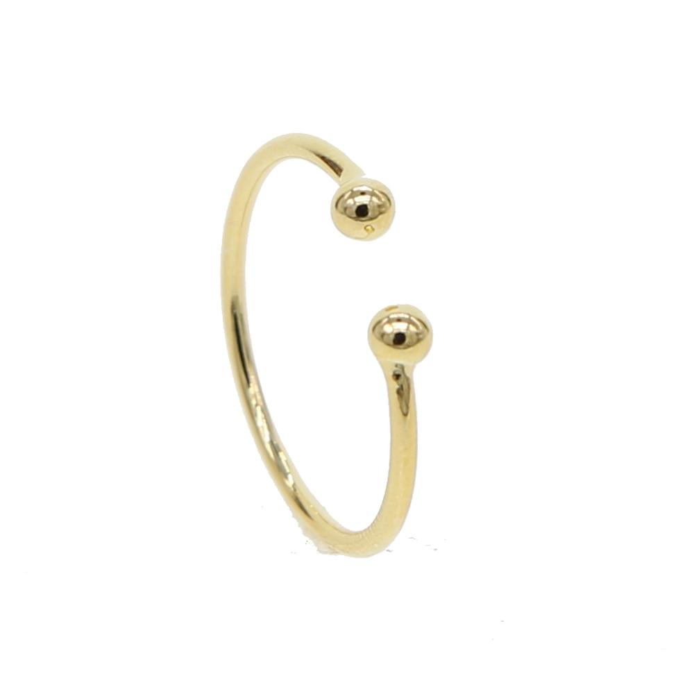 Простой нет камень дизайн полированный Открытые Кольца Золотое покрытие открытым размер нежные изысканные минимальным женские Стека Коль...