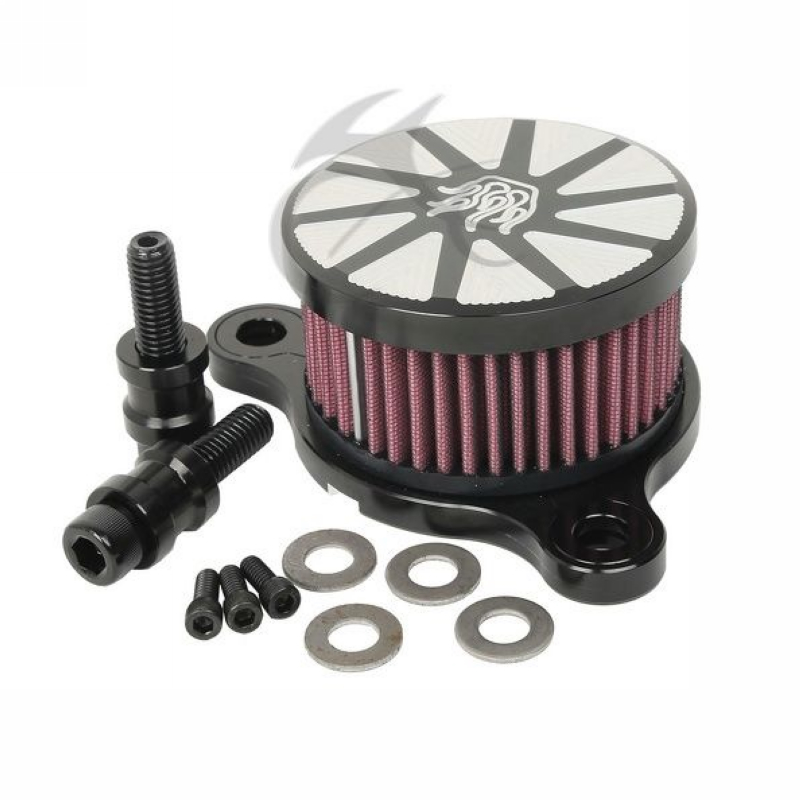Motorcycle Flame Style Air Cleaner Intake Filter For Harley Sportster XL 883 1200 2004 2016 15 Black Chrome in Air Filters Systems from Automobiles Motorcycles