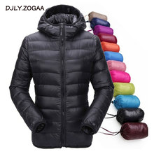 ZOGAA Winter New Womens Cotton Padded Warm Jacket Student Thin Section Down Hooded Short Coat Women