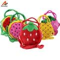 Cartoon kids Children Lucency Jelly Bags Baby Girls Fruit Cute Candy Color Messenger Handbags Princess Shoulder Bag New Tend 30