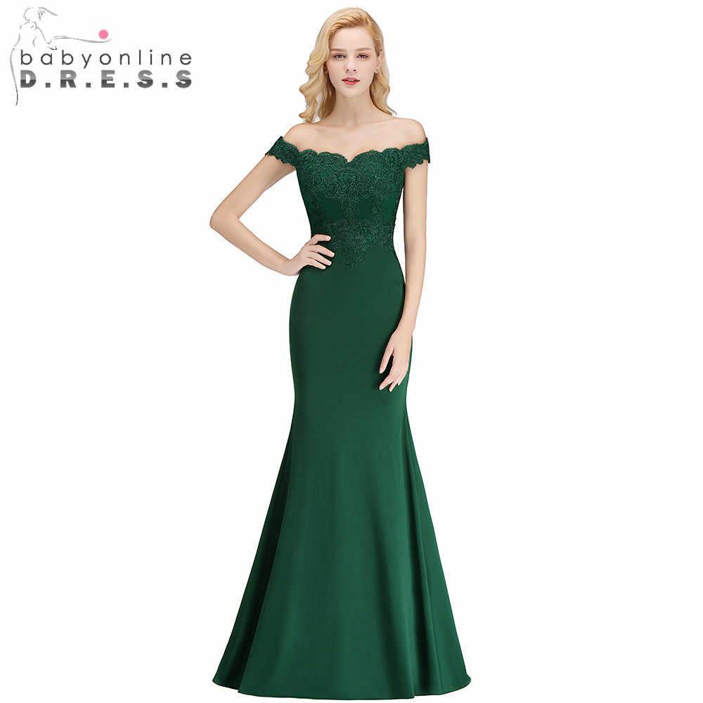 a4adb77cea8 Индивидуальные пикантные с открытыми плечами русалка аппликации платья  невесты Свадебные платья Длинные вечерние Платья для вечеринок