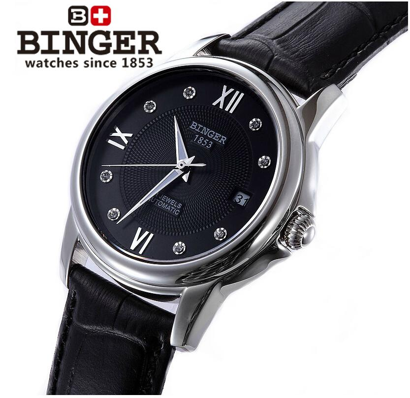 Switzerland men's watch luxury brand Wristwatches BINGER 18K gold Automatic self-wind full stainless steel waterproof  B-1102G-8 switzerland men s watch luxury brand wristwatches binger luminous automatic self wind full stainless steel waterproof b106 2