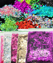 лучшая цена Iridescent Cosmetic Glitter Mix For Festival & Nail Art Mixed Glitter 25 Colors 50g Kit - Chunky Sequins Iridescent Flakes
