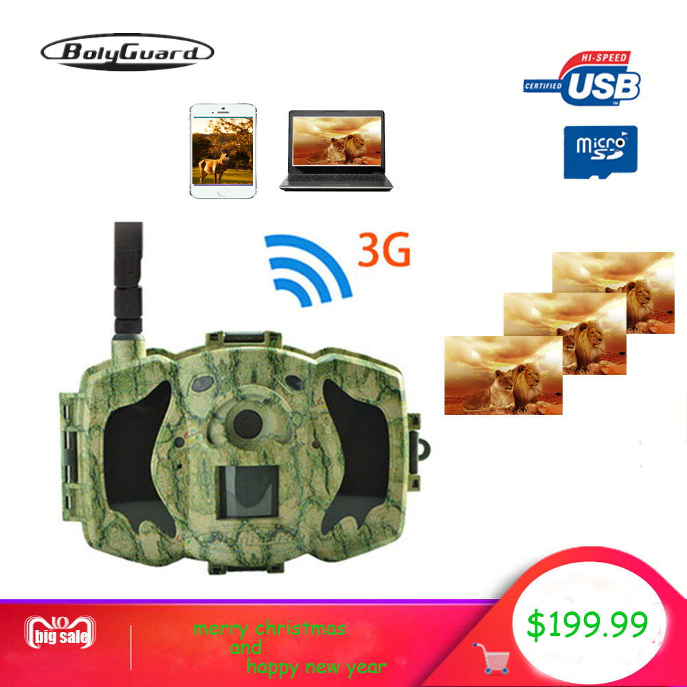 Bolyguard 30MP 1080 P HD Caccia Traccia Della Macchina Fotografica 3G Wireless 100ft SMS MMS GPRS Impermeabile Foto Trappola thermal imager macchina fotografica