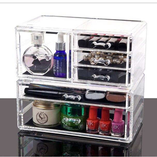 Mini moderne portable transparent PP maquillage boîte articles divers stockage bijoux boîte de rangement livraison gratuite