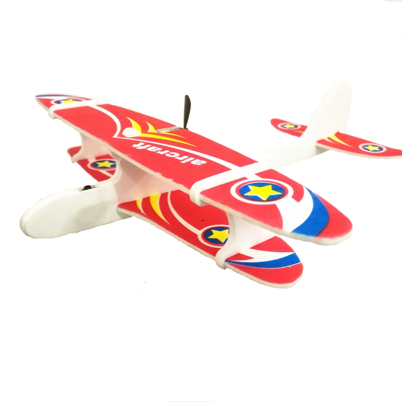 Electric Hand Throwing Foam Aircraft Swing Usb Charging Aviation Model Glider Toy Outdoor