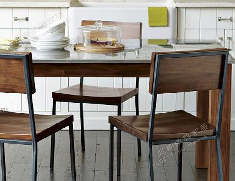 Loft American Country To Do The Old Retro Style Dining Chairs