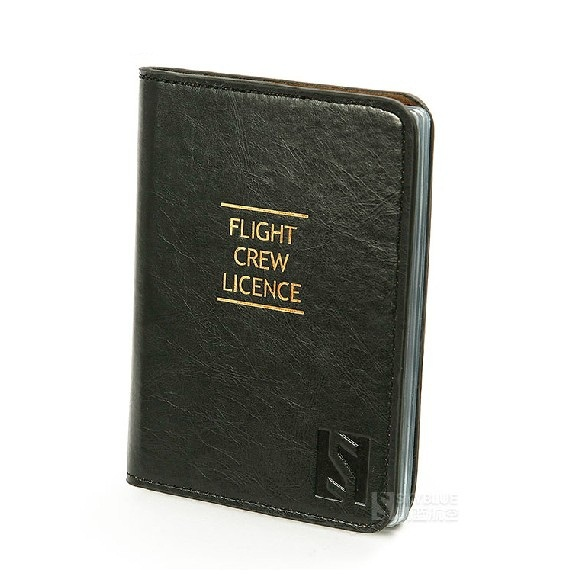 Pilots Credit Card PU Leather Holder High Quality Special Crew Men Folder Fight Crew Licence Case