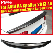 Fits For Audi A4 B8.5 A4a Rear Spoiler Tail Caractere Style Real Carbon Fiber Rear Spoiler Rear Trunk Wing car styling 2013-2016 стоимость