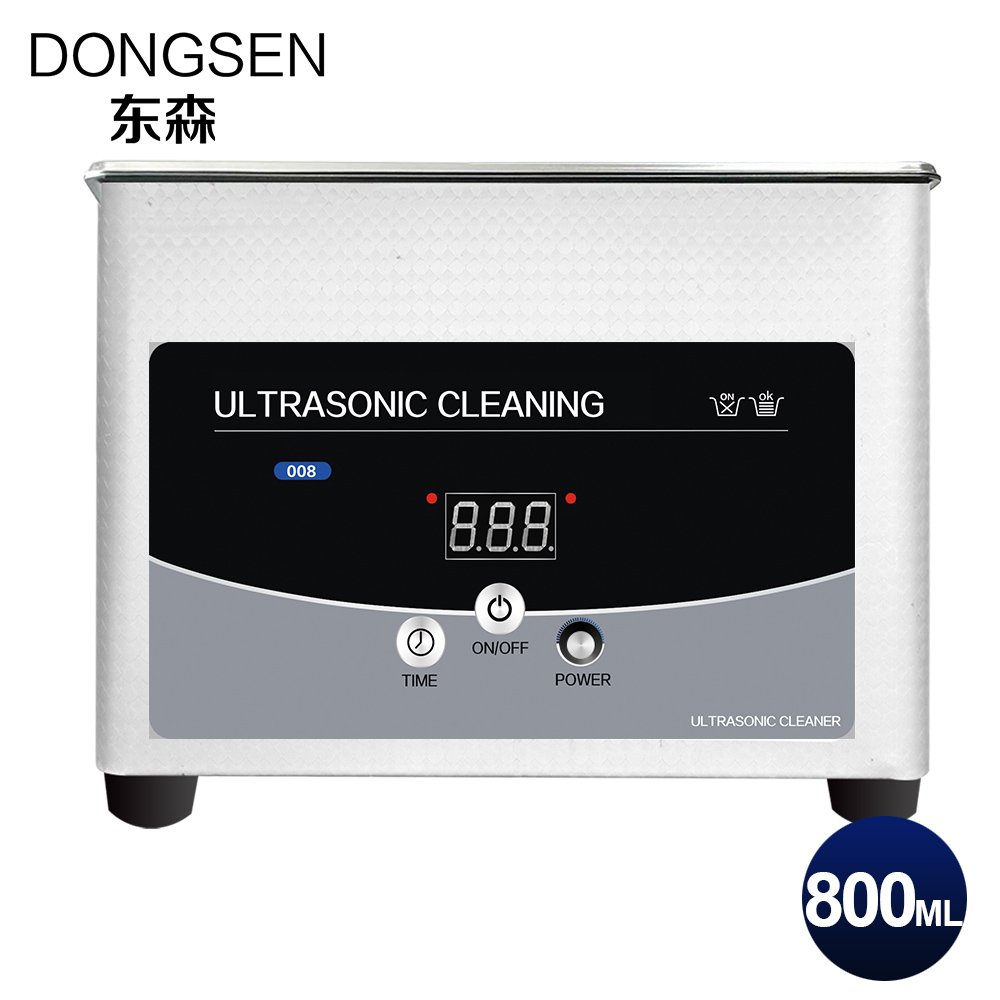 Digital Ultrasonic Cleaner 0.8L Bath Timer Heater Hardware Mechanical Parts Oil Rust Degreasing Motherboard Ultrasound Wash Tank