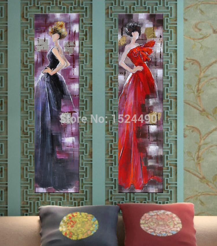 Fashion City Girl Direct From Artist 100% Hand Painted Modern Abstract Oil Painting On Canvas Wall Art Pictures For Home Decor