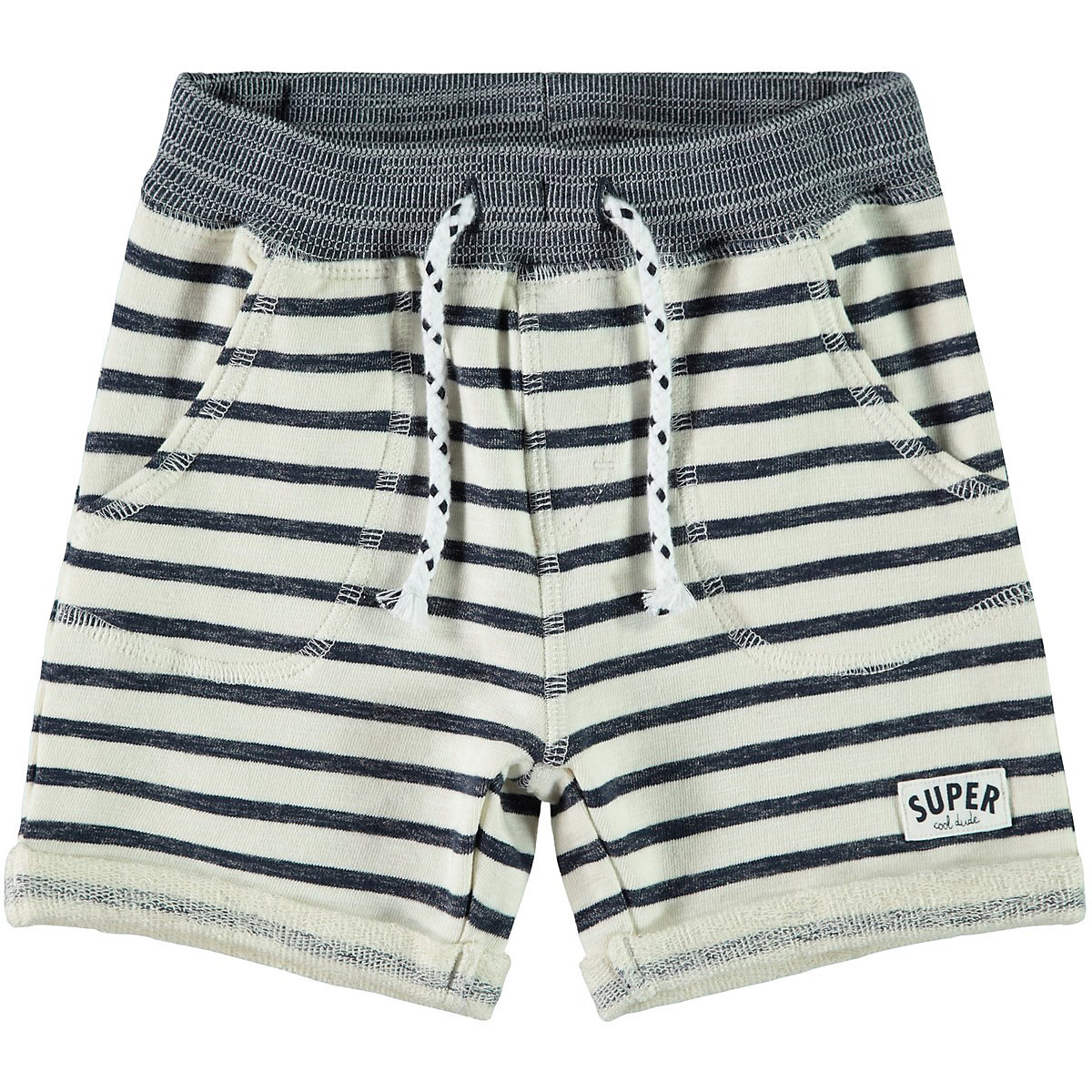 NAME IT Shorts 10266153 for boys and girls child sport for teenagers clothes Cotton Elastic Waist Boys