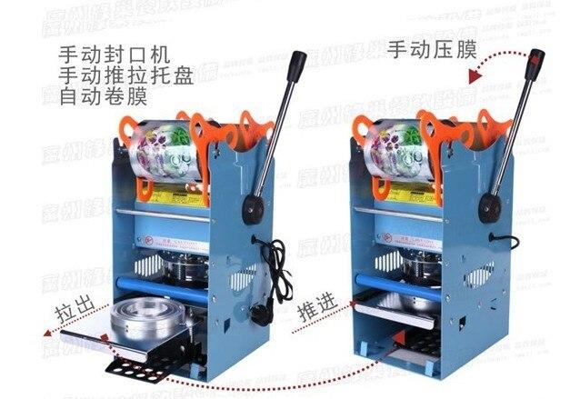 Купить с кэшбэком AC220V Manual Cup Sealing Machine for food and drink package,Manual cup sealer,bubble tea cup sealing machine