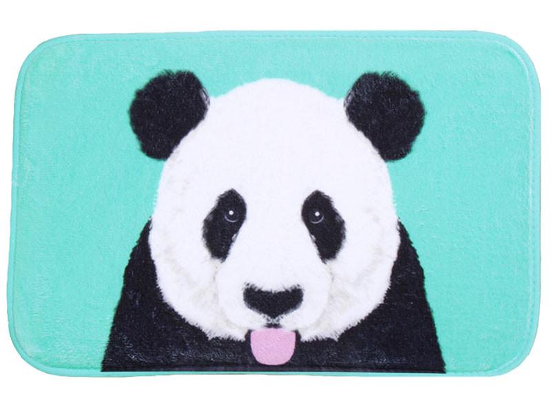 Bath Mat Funny Panda Printed Suede Non Slip Absorbent Shower Bathroom Mat For Toilet  Rugs Kitchen Floor Mat alfombras Carpet