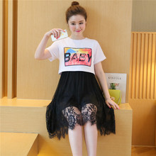 Summer Breast Feeding Clothes Nursing Maternity Dresses Print Fake Two-piece Pregnant Women Dress Pregnancy Cotton Clothing B80