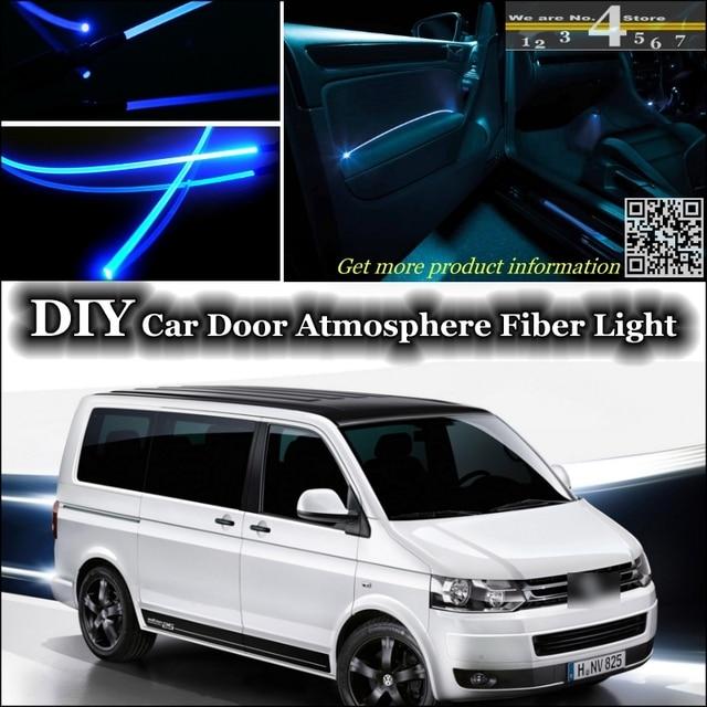 interieur omgevingslicht tuning sfeer glasvezel band verlichting voor volkswagen vw transporter t5 caravelle multivan binnen deur