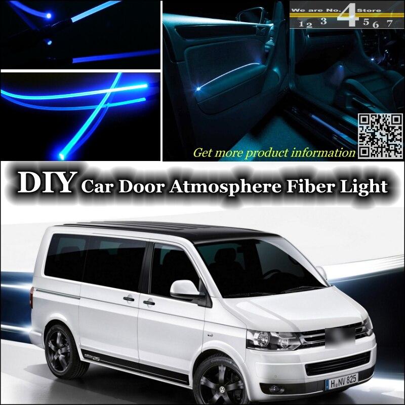 Us 2691 21 Offwnętrze Ambient Light Tuning Atmosfera światłowód Taśmy świetlne Dla Volkswagen Vw Transporter T5 Caravelle Multivan Wewnątrz Drzwi