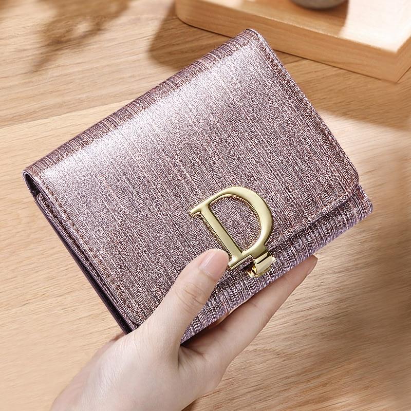 Portefeuille court de luxe pour femmes nobles élégantes véritable sac à main en cuir naturel 2019 nouvelle mode