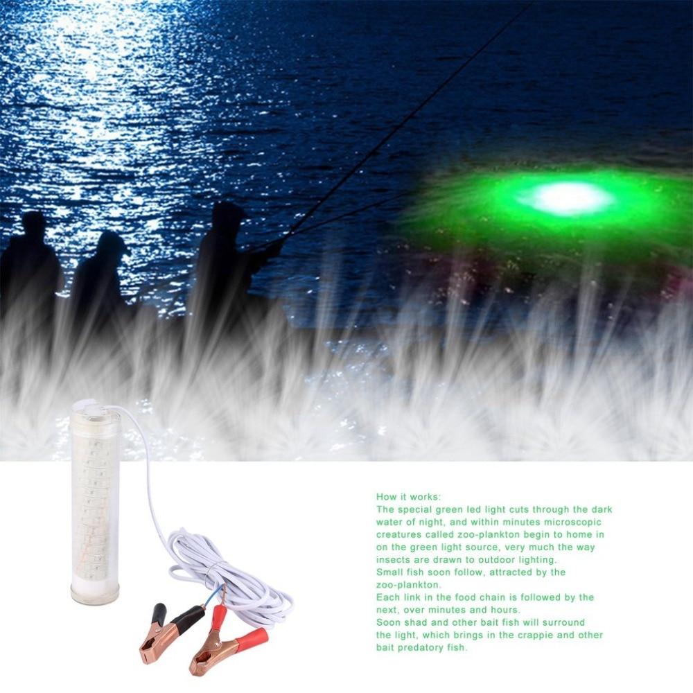 12V 104 LED 450LM Green Underwater Night Fishing Light clLamp Attracting Fish Light Fishing Boat Light Fishing Lights tool Hot