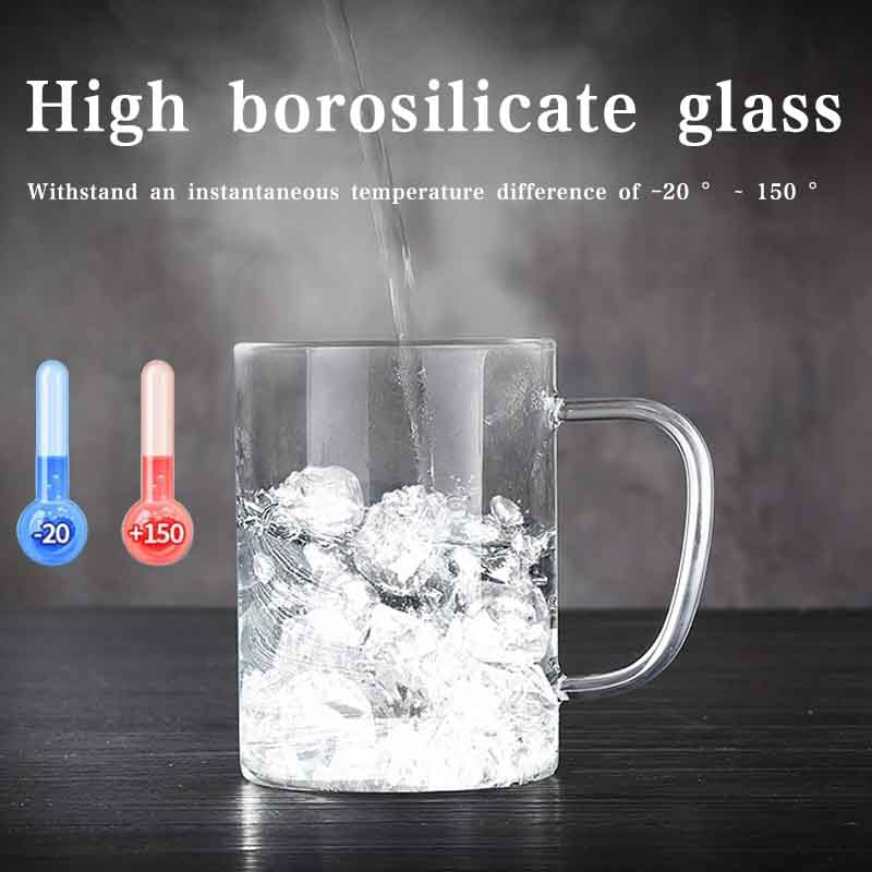 Tea Cup Drinks Container Coffee Pots High Borosilicate Glass Transparent Glass Cup Bar Insulated Thermal Coffee Mugs Beer