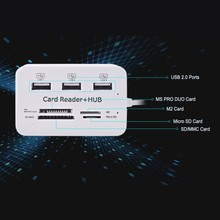 2017 New Micro USB 2.0 Hub 3 Ports with Card Reader Multi USB Splitter All In One for PC Laptop