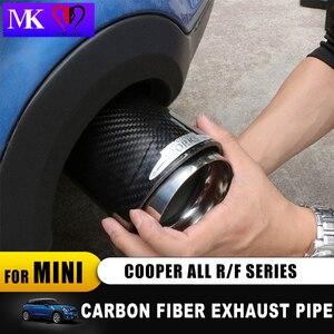 Image 2 - Ống xả sợi Carbon cho Mini Cooper John làm việc R55 R56 R57 F55 F56 R60 F60 Hương Xe ô tô tạo kiểu tóc ngoài trời phụ kiện trang trí