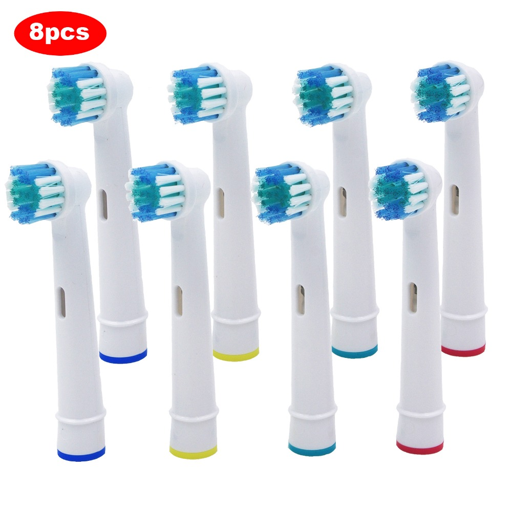 8x Replacement Brush Heads For Oral-B Electric Toothbrush For Advance Power/Pro Health/Triumph/3D Excel/Vitality Precision Clean