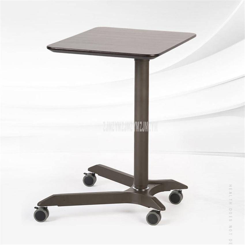 Simple Design Height Liftable Bed Side Table For Laptop Desk Notebook Stand Tray Movable With 4 Wheel Conference Meeting Table