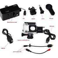Underwater 30M waterproof camera move power bank gopro hero 4/3+ battery + waterproof case for gopro hero4 3+ camera accessories