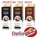 NEW formula DELIA HENNA COLOR CREAM EYEBROW TINT KIT DYE Black Brown PROFESSION Free Shipping
