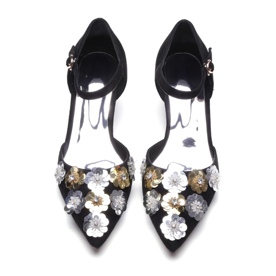 ФОТО Quality lamb suede with microfibre Cesare Pinelli TPR tendon origins of pretty rhinestones with two-piece high heel women's shoe
