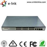 24x10/100 м Ethernet Порты и разъёмы s + 2x Gigabit TP/sfp Combo Порты и разъёмы S IEEE802.3at, 25.5 Вт, управляемых 24-Порты и разъёмы коммутатор PoE