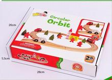 Free shipping, wooden toys, log combination 25 PCS circular orbit, children's educational toys, with a small train simingyou toys hobbies 25 pcs thomas train rail car character house traffic lights wooden montessori toy b40 a 126 drop shipping