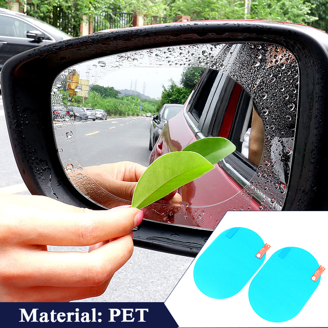 Universal Rainproof Car Rearview Mirror Stickers Film Anti Fog Transparent Window Clear Protection Nano Safety Drive Auto Goods